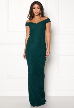 BUBBLEROOM Jennifer lace dress Dark green Bubbleroom.fi