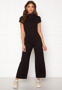 BUBBLEROOM Jessie rib trousers Black Bubbleroom.fi