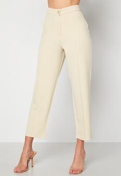 BUBBLEROOM Joanna soft suit pants Light beige Bubbleroom.fi
