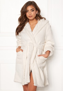 BUBBLEROOM Josefine fluffy robe White Bubbleroom.fi