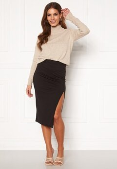 BUBBLEROOM Jouline midi skirt Black Bubbleroom.fi