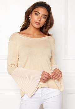 BUBBLEROOM Juliet knitted sweater Beige Bubbleroom.fi