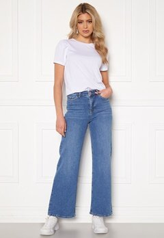 BUBBLEROOM June wide leg stretch jeans Medium blue Bubbleroom.fi