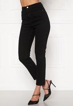 BUBBLEROOM Katy high waist semi stretch jeans Black Bubbleroom.fi