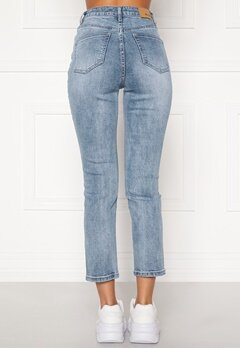 BUBBLEROOM Katy high waist semi stretch jeans Medium blue Bubbleroom.fi
