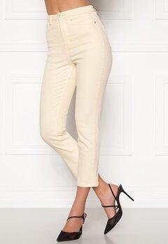 BUBBLEROOM Katy high waist semi stretch jeans Cream Bubbleroom.fi