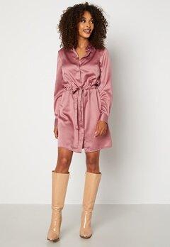 BUBBLEROOM Kelly shirt dress Dusty pink bubbleroom.fi