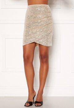 BUBBLEROOM Kira sparkling skirt Champagne / Silver Bubbleroom.fi