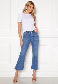 BUBBLEROOM Kyla kick flare stretch jeans Medium blue Bubbleroom.fi