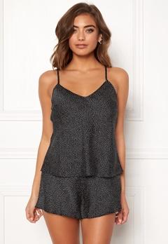 BUBBLEROOM Laila pyjama singlet Black / Dotted Bubbleroom.fi