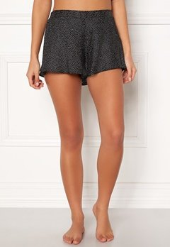 BUBBLEROOM Laila satin shorts Black / Dotted Bubbleroom.fi