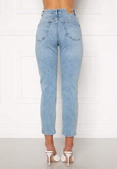 BUBBLEROOM Lana high waist jeans Light blue Bubbleroom.fi
