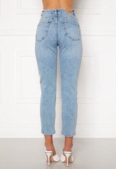 BUBBLEROOM Lana high waist jeans Light blue bubbleroom.fi