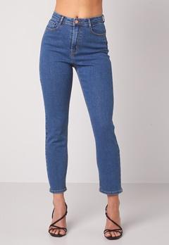 BUBBLEROOM Lana high waist jeans Medium blue bubbleroom.fi