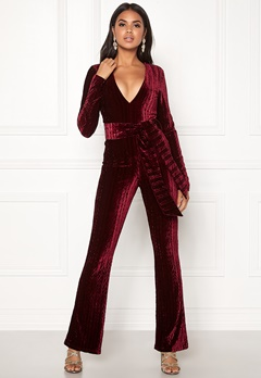 BUBBLEROOM Lene jumpsuit Wine-red Bubbleroom.fi