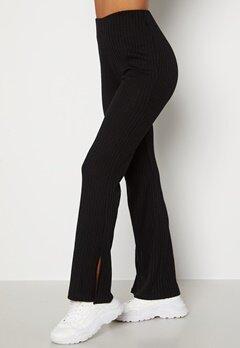 BUBBLEROOM Lesley rib trousers Black Bubbleroom.fi