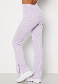 BUBBLEROOM Lesley rib trousers Light lilac bubbleroom.fi