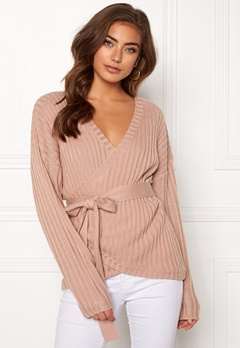 BUBBLEROOM Lillyanne knitted sweater Dusty pink Bubbleroom.fi