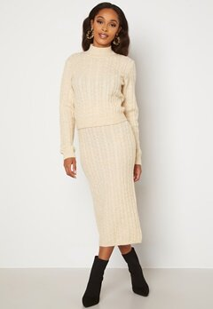 BUBBLEROOM Lively knitted skirt Cream bubbleroom.fi
