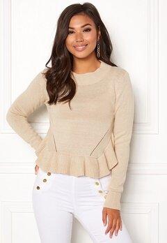 BUBBLEROOM Livia knitted sweater Beige Bubbleroom.fi