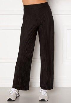 BUBBLEROOM Lola pleated trousers Black Bubbleroom.fi