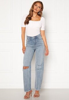 BUBBLEROOM Lori straight leg jeans Light denim Bubbleroom.fi