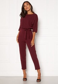 BUBBLEROOM Lorna jumpsuit Wine-red Bubbleroom.fi