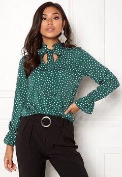 BUBBLEROOM Louisa blouse Dark green / Dotted Bubbleroom.fi