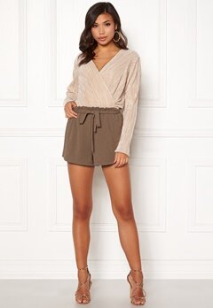 BUBBLEROOM Louise paperbag shorts Brown Bubbleroom.fi