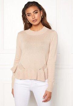 BUBBLEROOM Lova knitted sweater Beige Bubbleroom.fi