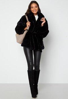 BUBBLEROOM Vadah Faux Fur Jacket Black Bubbleroom.fi