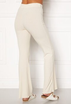 BUBBLEROOM Lykke rib trousers Cream Bubbleroom.fi