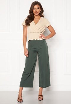 BUBBLEROOM Maja culotte trousers Green Bubbleroom.fi