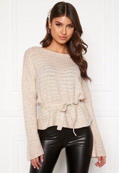 BUBBLEROOM Malin knitted sweater Beige Bubbleroom.fi