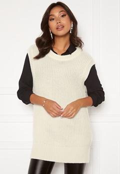 BUBBLEROOM Manja knitted vest Offwhite Bubbleroom.fi