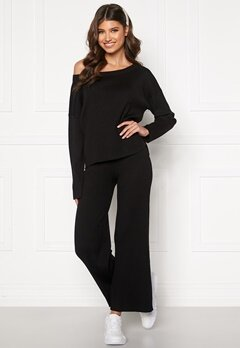 BUBBLEROOM Marah knitted trousers Black Bubbleroom.fi