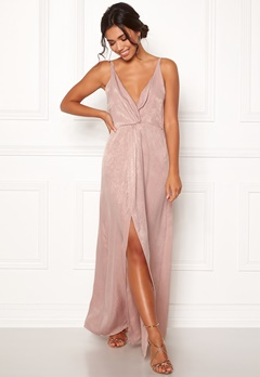 BUBBLEROOM Marianna front twist gown Silver coloured / Pink Bubbleroom.fi