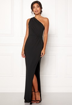 BUBBLEROOM Marianna one shoulder gown Black Bubbleroom.fi