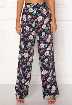 BUBBLEROOM Marianna wide trousers Blue / Floral Bubbleroom.fi