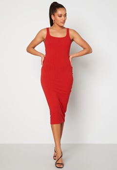 BUBBLEROOM Marina rib dress Red Bubbleroom.fi