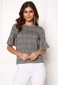 BUBBLEROOM Matilda top Grey / Yellow / Checked Bubbleroom.fi