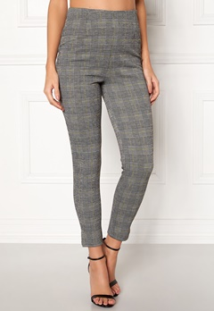 BUBBLEROOM Megan trousers Grey / Yellow / Checked Bubbleroom.fi
