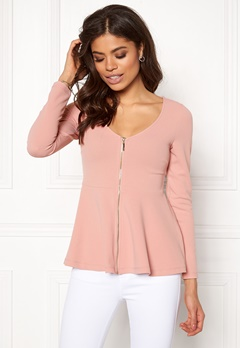 BUBBLEROOM Megan zip jacket Dusty pink Bubbleroom.fi