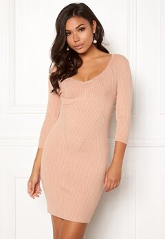 BUBBLEROOM Melia knitted dress Camel Bubbleroom.fi