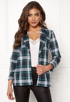 BUBBLEROOM Melina blazer Green / Checked Bubbleroom.fi