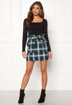 BUBBLEROOM Melina skirt Green / Checked Bubbleroom.fi