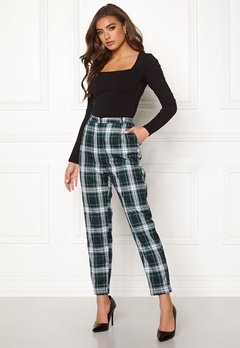 BUBBLEROOM Melina trousers Green / Checked Bubbleroom.fi