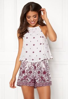 BUBBLEROOM Melinda playsuit Lilac / White / Patterned Bubbleroom.fi