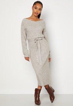 BUBBLEROOM Meline knitted dress Grey melange bubbleroom.fi