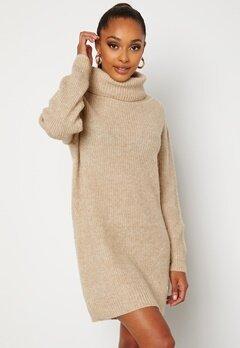 BUBBLEROOM Melissi knitted sweater dress Beige bubbleroom.fi